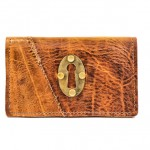 OOAK Leather Phone Wallet with Keyhole from Divina Denuevo
