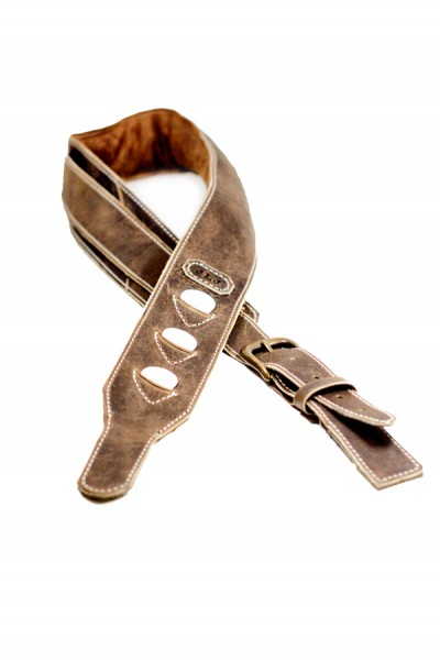 Leather Guitar Strap with Pick Pockets
