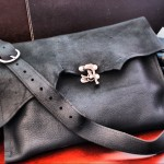 Leather Raw Edge Bag