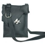 M201104 - Raw Edge Swing Clasp Messenger Bag