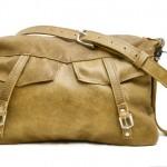 Distressed Leather Hobo Bag