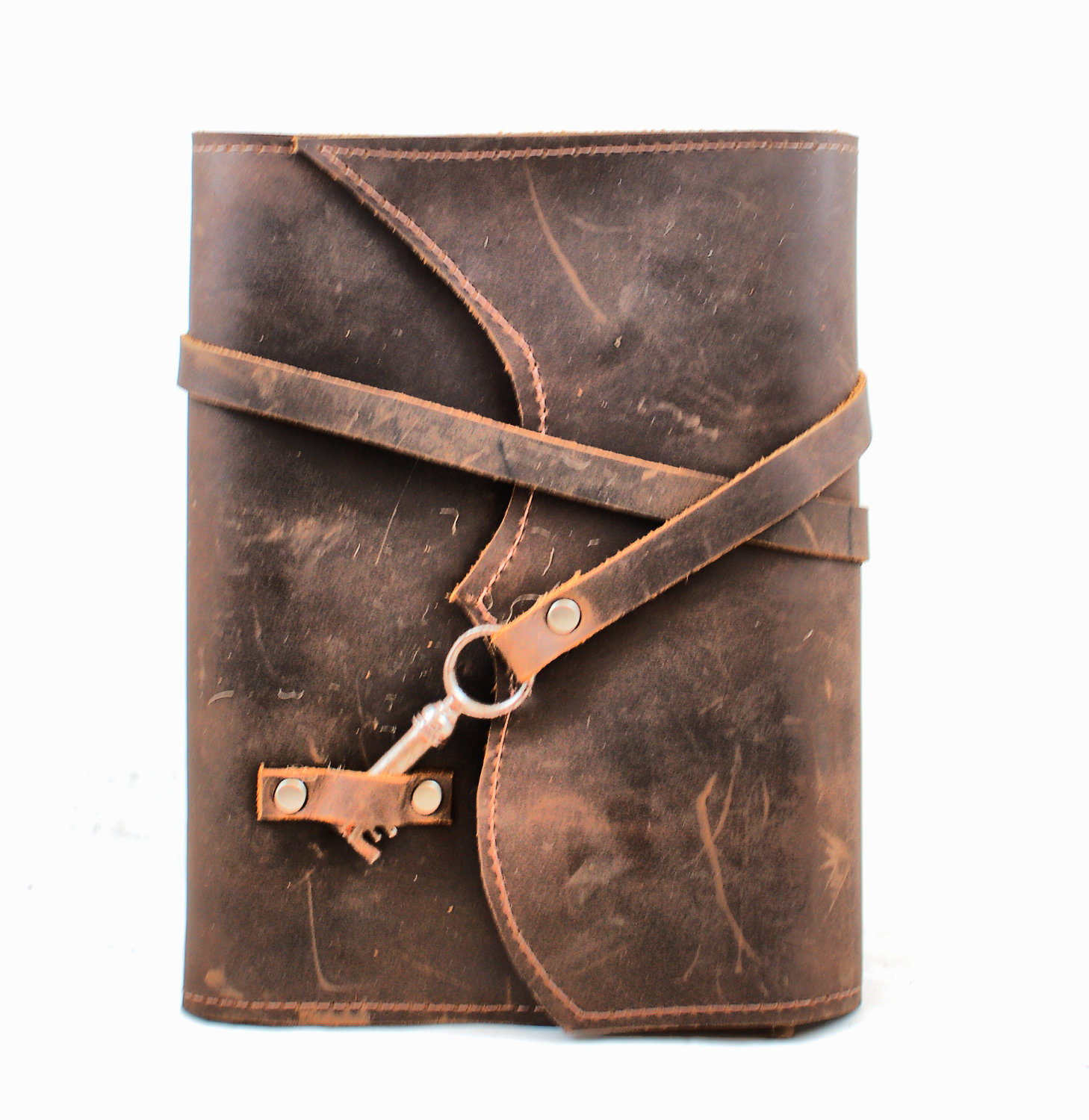 Old Book Cover Laptop : Nottinghill refillable leather journal with antique key