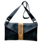 Leather Equestrian Style Two-Tone Purse