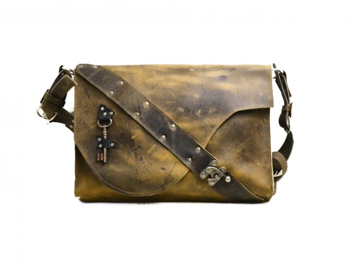 Distressed Leather Laptop Bag