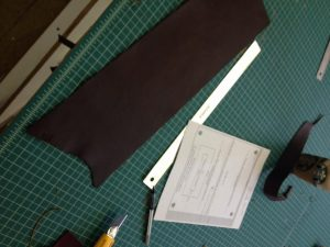 I then cut the piece with a sharp knife to the length required, taking into account that part of it would fold in on itself.