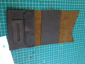 Next came the cigarette paper holder and the flap for the pocket