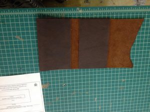Once I had the main body piece in place, I cut the next piece for the top pocket.