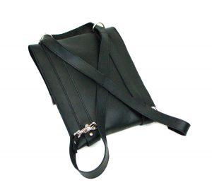 Leather Convertible Messenger Bag
