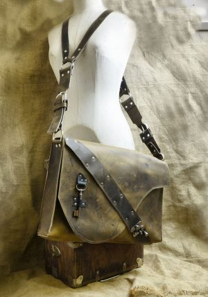 Steampunk Leather Satchel