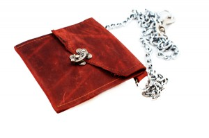 Leather Pouch with Chain