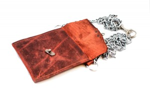 Leather Belted Chain Wallet