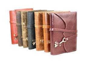 Leather Notebook with Antique Key