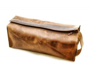 Leather Toiletry Bag with Removable Lining