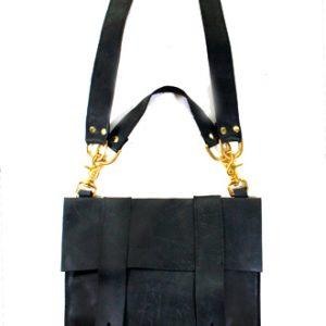 Black Leather School Bag