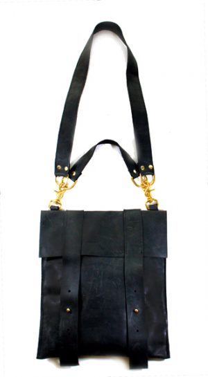 Black Leather School Bag