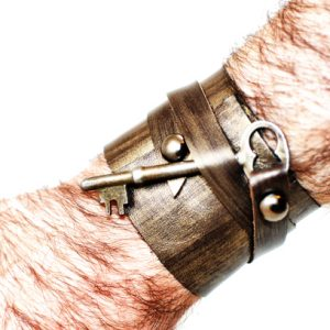 Industrial Hardware Leather Cuff