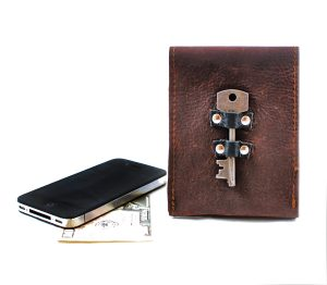 Steampunk Leather Phone Case