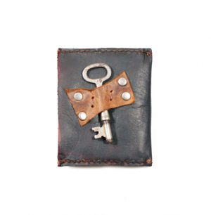 Skeleton Key Accent Leather Wallet