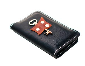 Leather Wallet with Antique Key