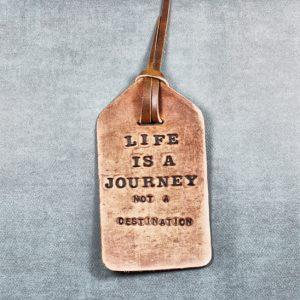 Ralph Waldo Emerson Quote Leather Bookmark