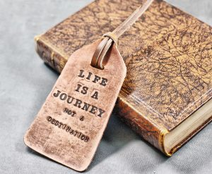 Leather Tag with Quote by Divina Denuevo