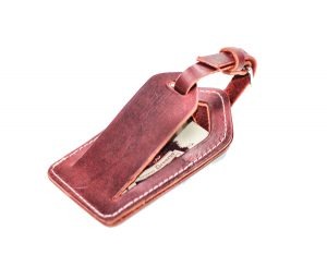 Leather Luggage Tag by Divina Denuevo
