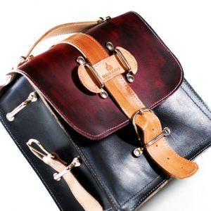 Industrial Leather Messenger Bag