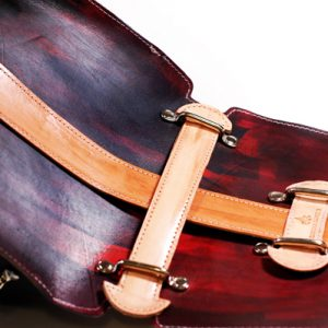 Hand Painted Leather Bag by Divina Denuevo