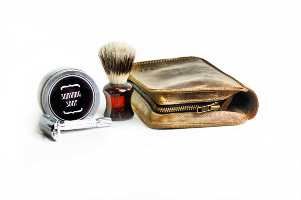 Leather Wet Shave Case