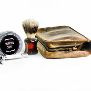 Leather Shaving Set
