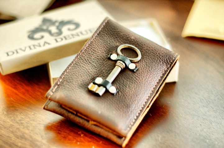 Steampunk Leather Wallet
