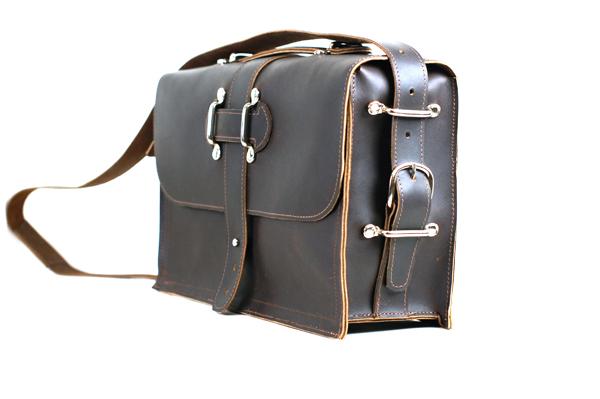 Men's Leather Briefcase by Divina Denuevo