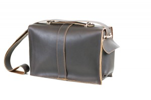Chocolate Brown Leather Messenger Bag