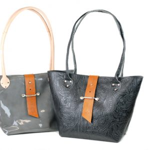 Equestrian Style Leather Bag