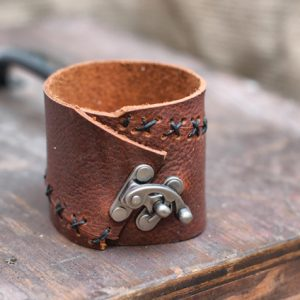 Leather Swing Clasp Cuff