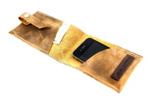 Distressed Leather Phone Wallet