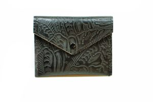 Black Leather Envelope Wallet