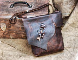 Raw Edge Leather Bag