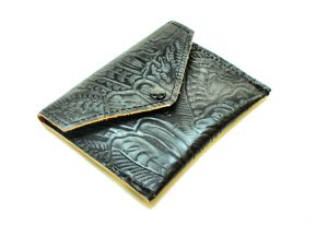 Black Tooled Leather Wallet