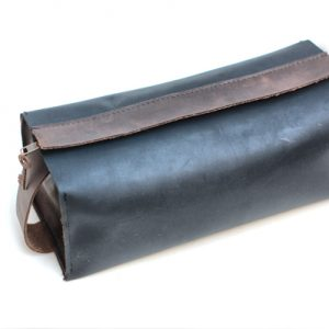 Leather Toiletry Case with Waterproof Lining