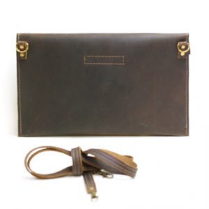 Leather Purse with Antique Hardware