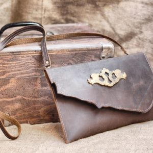 Raw Edge Leather Clutch