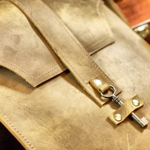 Tan Brown Leather iPad Case