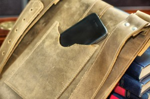 Tan Brown Leather Bag