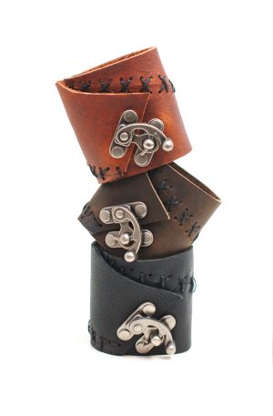 rugged leather cuff