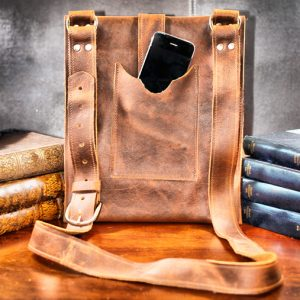 Leather Bag with Phone Pocket