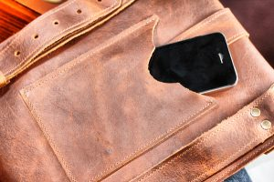 One of a Kind Leather Messenger Bag