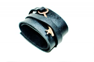 Leather Cuff with Skeleton Key