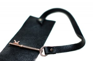 Leather Cuff with Antique Key