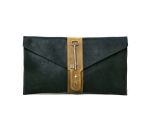 Two Tone Equestrian Clutch